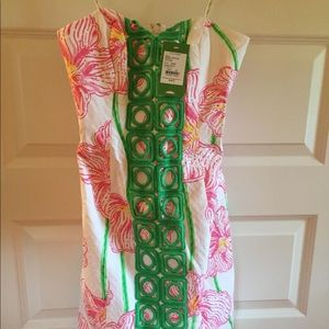 NWT $228 Angela Dress clover cup Lilly Pulitzer